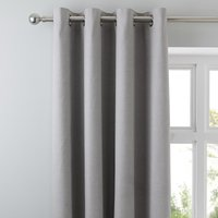 Tyla Silver Blackout Eyelet Curtains Silver