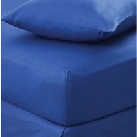Non Iron Plain Fitted Sheet Navy