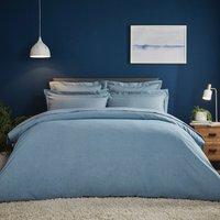image-Fogarty Soft Touch Marl Effect Denim Duvet Cover and Pillowcase Set Denim