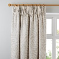 Alderly Natural Pencil Pleat Curtains Brown and White