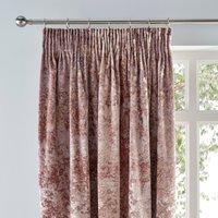 Crushed Velour Blush Pencil Pleat Curtains Blush Pink