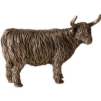 image-Bronze Highland Cow Ornament Bronze