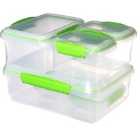 image-Sistema Klip It Pack of 6 Lunch Boxes green