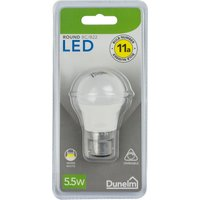 image-Dimmable 5.5 Watt BC Pearl LED Round Bulb White