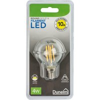 image-Dimmable 4 Watt SES LED Filament Round Bulb White