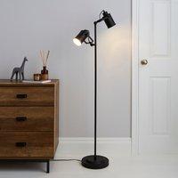 image-Healy 2 Light Black Floor Lamp Black