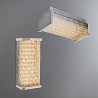 image-Waseca Integrated LED Bathroom Wall Light or Ceiling Fitting Silver