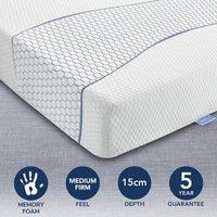 image-Sareer Matrah Cool Blue Memory Foam Mattress White