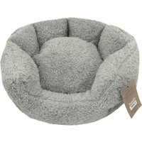 Teddy Bear Grey Round Dog Bed Grey