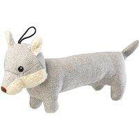 Tweed Grey Fox Dog Toy Grey