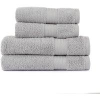 image-Silver Egyptian Cotton 4 Piece Towel Bale Silver