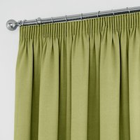 Tyla Green Blackout Pencil Pleat Curtains Green