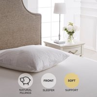 Dorma Hungarian Goose Down Continental Square Pillow White