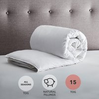 Fogarty White Duck Feather and Down All Seasons Duo 15 Tog Duvet White