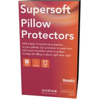 Supersoft Pillow Protector Pair White