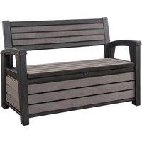 Hudson 2 Seater Storage Bench Grey