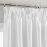 Montana White Pencil Pleat Curtains White