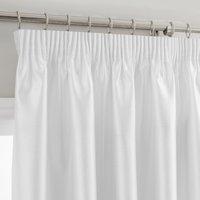 Montana White Pencil Pleat Curtains White