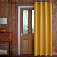 Jennings Ochre Door Curtain Yellow