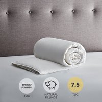 Fogarty White Duck Feather and Down 7.5 Tog Duvet White