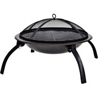 La Hacienda Steel Camping Fire Pit Black