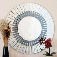 image-Surrey Blue Wall Mirror Clear/Blue