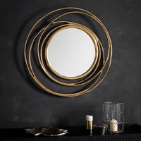 image-Allende Satin Gold Wall Mirror Gold