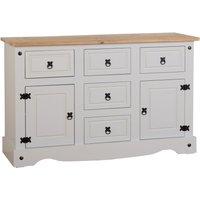 image-Corona Grey Pine Sideboard White