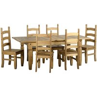 Corona Extending 6 Seater Dining Set Natural