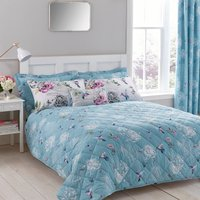 image-Heavenly Hummingbird Bedspread Blue