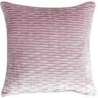 image-Pleated Velvet Cushion Cover Blush