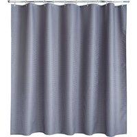 Waffle Grey XL Shower Curtain Grey