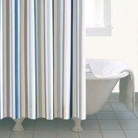 Nautical Bold Stripe XL Shower Curtain Blue