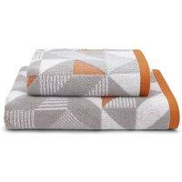 image-Elements Geo Paprika Towel Grey and Orange