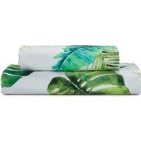 image-Tropical Leaf Digitally Printed Bath Towel Green