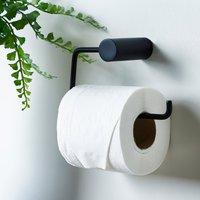 image-Elements Matt Black Toilet Roll Holder Black