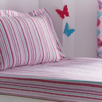 Butterflies Single Fitted Sheet Pink