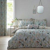 image-Petunia Green Reversible Duvet Cover and Pillowcase Set Green