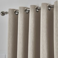 Tyla Natural Blackout Eyelet Curtains Brown
