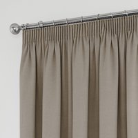 Tyla Natural Blackout Pencil Pleat Curtains Natural
