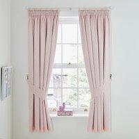 Unicorn Dreams Blackout Pencil Pleat Curtains Pink