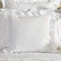 Dorma Alice Ruffle Cushion White