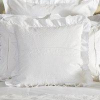 Dorma Alice Ruffle Cushion White