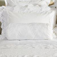 Dorma Alice Bolster Cushion White