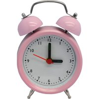 Traditional Pink Alarm Clock Pink