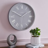 image-Jones Grey Roman Numeral Wall Clock Grey