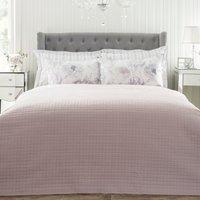 Grid Stitch Mauve Bedspread Mauve