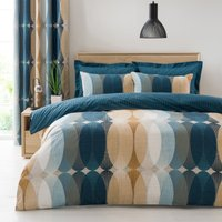 Elements Elijah Blue Reversible Duvet Cover and Pillowcase Set Teal