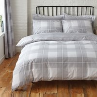 Colby Grey Reversible Duvet Cover and Pillowcase Set Grey