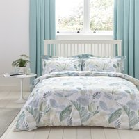 Ashleigh Green Reversible Duvet Cover and Pillowcase Set Green